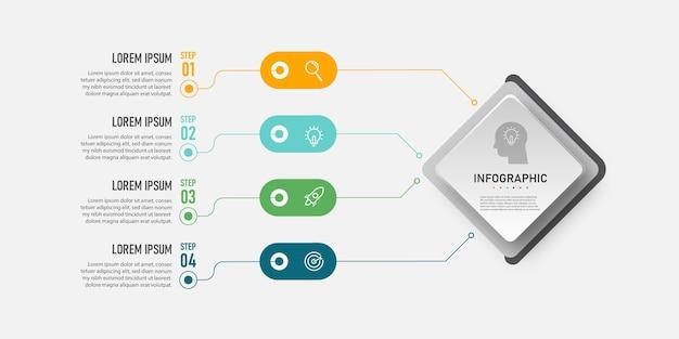 Modèle d'entreprise infographique moderne