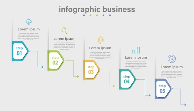 Modèle d'entreprise infographique vectoriel et visualisation de données avec 4 options.