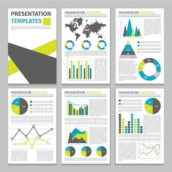 Modèle d & # 39; entreprise infographique