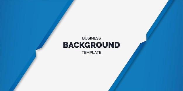 Modèle d'entreprise minimal avec des formes bleues géométriques abstraites