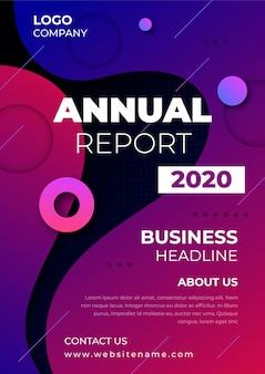 Modèle d'entreprise de rapport annuel