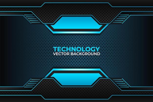 Modèle d'entreprise de technologie de conception de fond noir et bleu