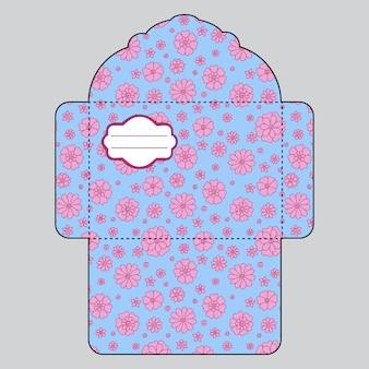 Modèle d'enveloppe florale