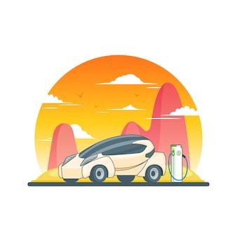 Modèle environnemental écologique futuriste