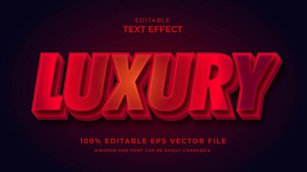 Modèle eps modifiable d'effet de texte rouge de luxe