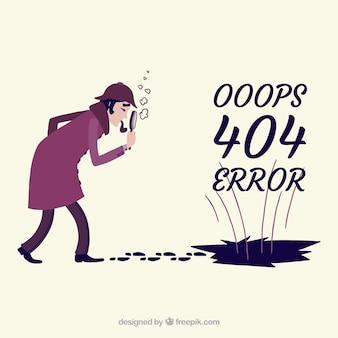 Modèle d'erreur 404 dans le style dessiné à la main