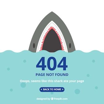 Modèle d'erreur 404 dans un style plat