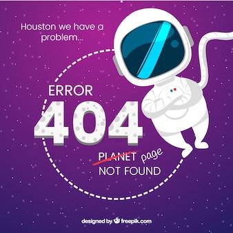 Modèle d'erreur flat 404