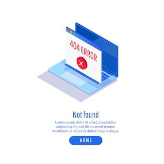 Modèle d'erreur de maintenance 404
