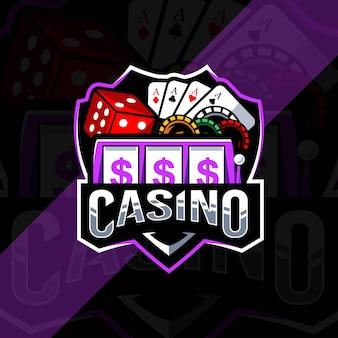 Modèle d'esport de logo de mascotte de casino