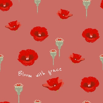 Modèle esthétique floral modifiable pour publication sur les réseaux sociaux avec citation inspirante