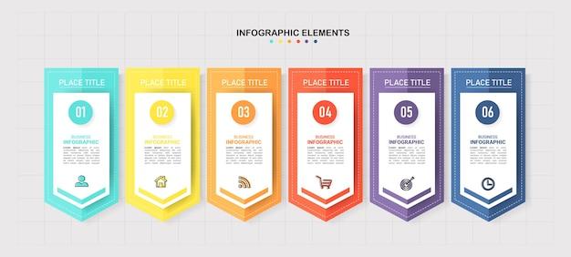 Modèle d'étapes infographiques créatives