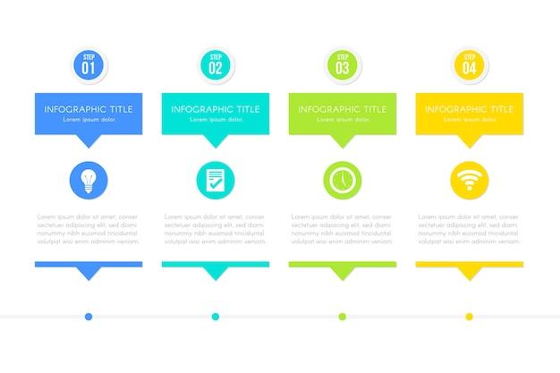 Modèle d'étapes pour infographie