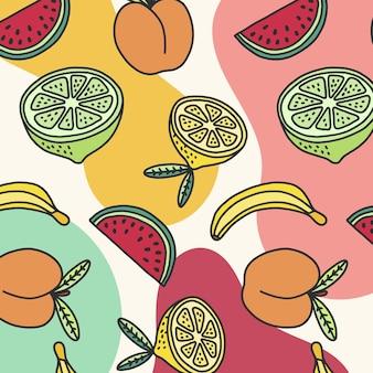 Modèle d'été avec des fruits