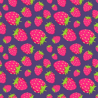 Modèle d'été avec la paille juteuse rose de fraises