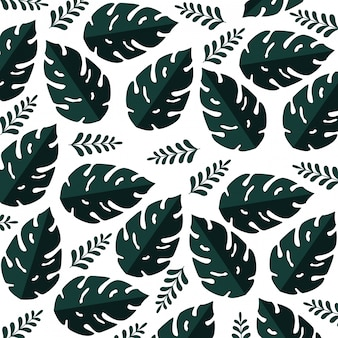 Modèle d'été avec des plantes tropicales