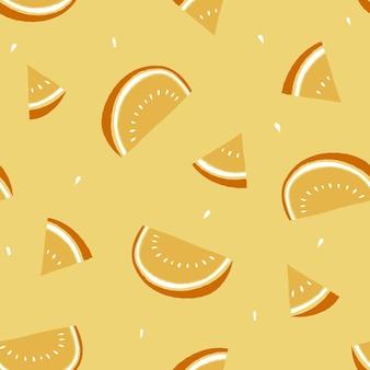 Modèle d'été tranche de pastèque