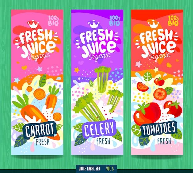 Modèle d'étiquette alimentaire splash abstrait.