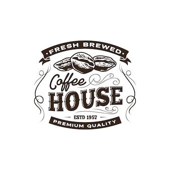 Modèle d'étiquette de café vintage