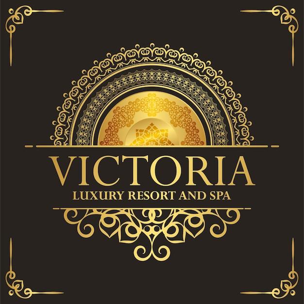 Modèle d'étiquette d'hôtel de luxe. ornement royal vintage à la mode.