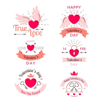 Modèle d'étiquette de la saint-valentin