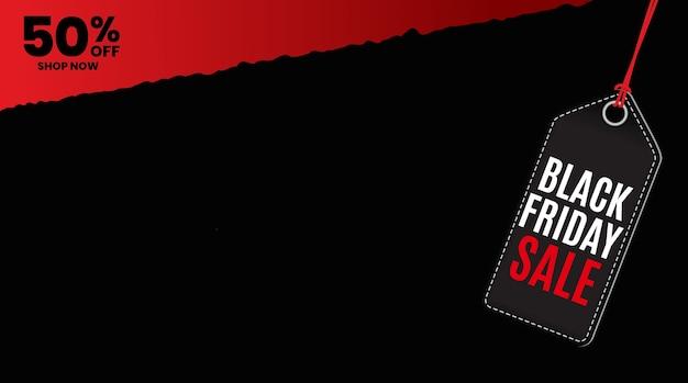 Modèle d'étiquette de vente vendredi noir.