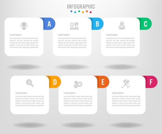 Modèle d'étiquettes infographie métier avec options