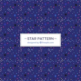 Modèle d'étoile bleue avec des lignes