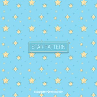 Modèle d'étoile créative bleue