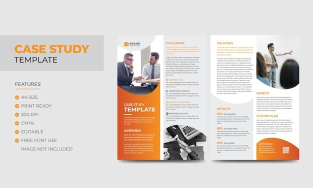 Modèle d'étude de cas modèle de dépliant et d'affiche recto-verso d'entreprise moderne d'entreprise conception de livret coloré