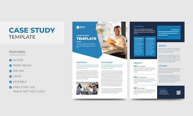Modèle d'étude de cas modèle de flyer et d'affiche recto verso d'entreprise moderne d'entreprise