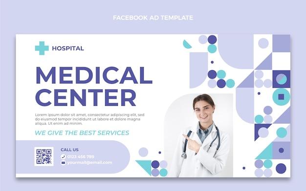 Modèle facebook de centre médical design plat