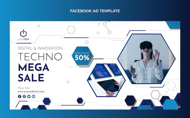 Modèle facebook de technologie minimale de conception plate