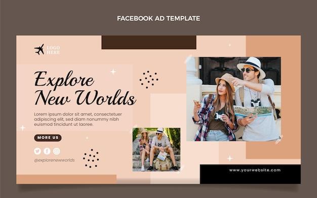 Modèle facebook de voyage plat