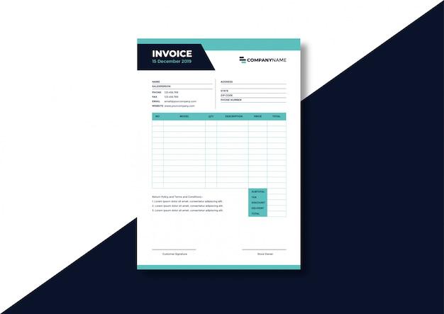 Modèle de facture d'entreprise formelle