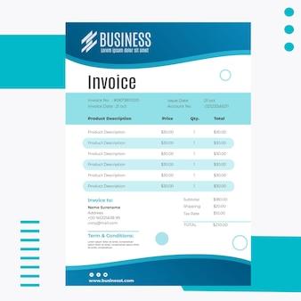Modèle de facture d'entreprise intelligente