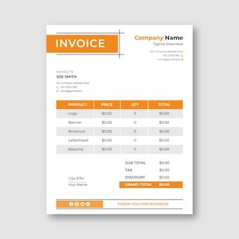 Modèle de facture d'entreprise professionnelle