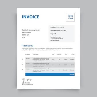 Modèle de facture d'entreprise