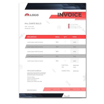 Modèle de facture de mécanicien
