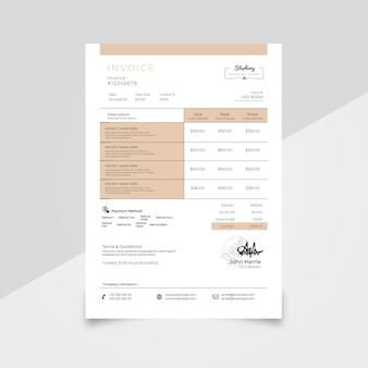 Modèle de facture minimale