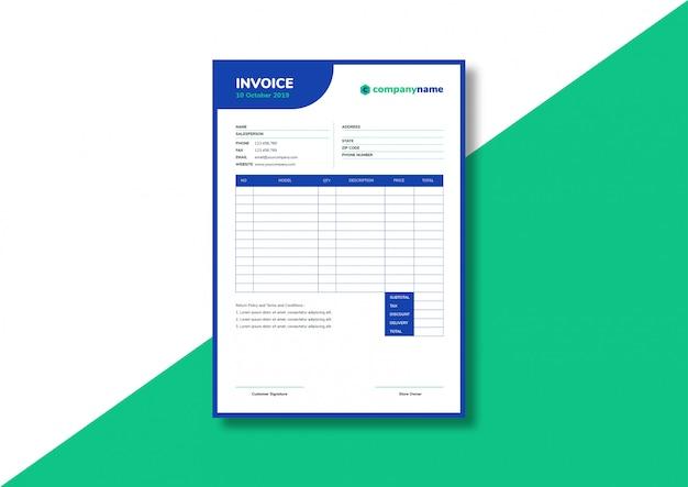 Modèle de facture pour entreprise occasionnelle