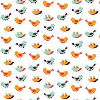 Modèle de famille d'oiseau
