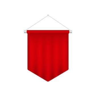 Modèle de fanion rouge réaliste.