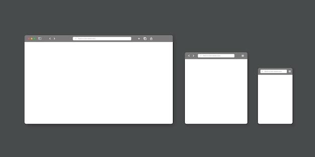 Modèle de fenêtre de navigateur web.