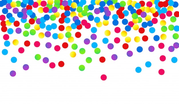 Modèle de festival de confettis jaune