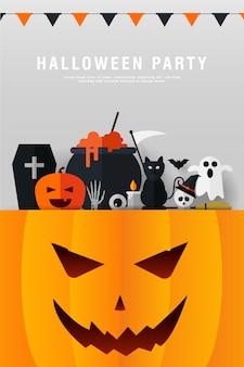 Modèle de fête d'halloween heureux
