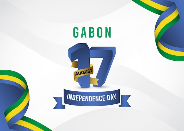 Modèle de fête de l'indépendance du gabon.