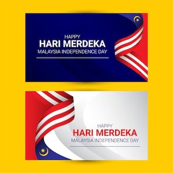 Modèle de fête de l'indépendance de la malaisie
