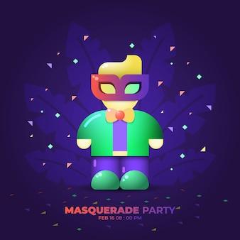 Modèle de fête de mascarade