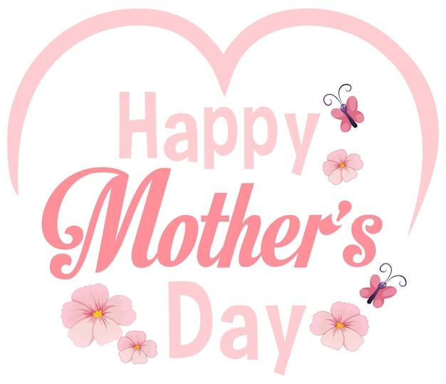 Modèle de fête des mères heureux